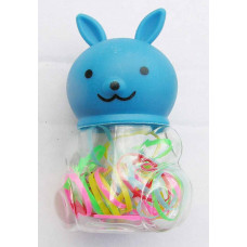 Latex - Hårelastik til børn - Blå Kanin