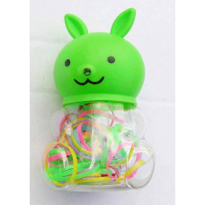 Latex - Hårelastik til børn - Grøn Kanin