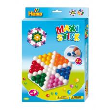 Hama - Maxi Stick - Stifter og hulplade - Blomster & mønstre