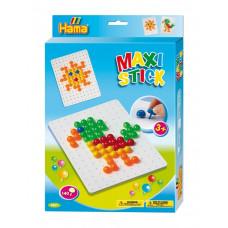 Hama - Maxi Stick - Stifter og hulplade - Sol & Papagøje