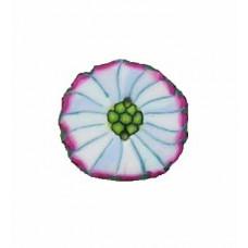 Jane Hamilton - Knap - Lysblå/hvid Blomst