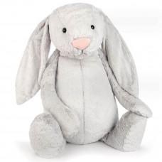 Jellycat - Bashful Virkelig kæmpe stor kanin 108 cm - Silver