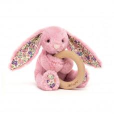 Jellycat - Baby Aktivitets-rangle/bidering - Bashful kanin - Blossom Tulip
