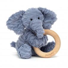 Jellycat - Baby Aktivitets-rangle/bidering - Fuddlewuddel Elefant