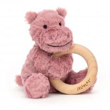 Jellycat - Baby Aktivitets-rangle/bidering - Fuddlewuddel Flodhest
