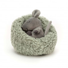 Jellycat - Hibernating - Mus i rede 12 cm