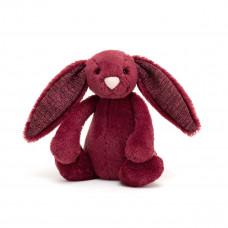 Jellycat - Bashful kanin 18 cm - Sparkly Cassis