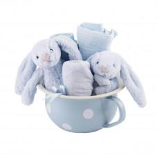 Jellycat - Exclusive gavesæt - Lyseblå potte - Lyseblå