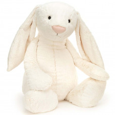 Jellycat - Bashful Virkelig kæmpe stor kanin 108 cm - Creme