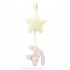 Jellycat - Baby Musikuro - Bashful kanin spilledåse - Lyserød