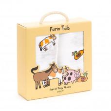 Jellycat - Stofble 2 stk - Farm Tails