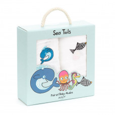 Jellycat - Stofble 2 stk - Sea Tails