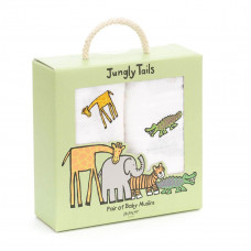 Jellycat - Stofble 2 stk - Jungly Tails