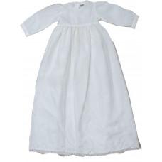Dåbskjole - Hvid med hjerter - Ekstra lang