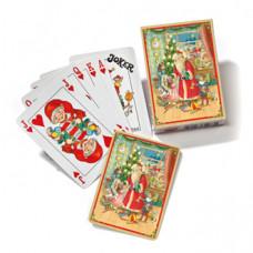 Kalendergave - Spillekort - Nostalgisk jul - Julemanden deler gaver ud