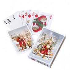 Kalendergave - Spillekort - Nostalgisk jul - Julemanden i sneen