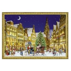 Coppenrath - Gavemærke julekalender med glimmer - Juletræ