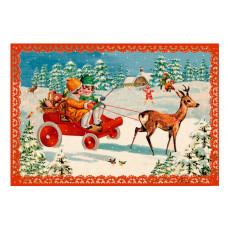 Coppenrath - Gavemærke julekalender med glimmer - Julebørn i sneen