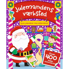 Forlaget Bolden - Kalendergave - Sjove julepuslerier med klistermærker - Julemandens Værksted