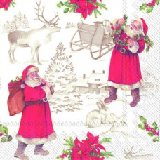 Servietter - Julemænd - 10 x 10 cm - 20 stk