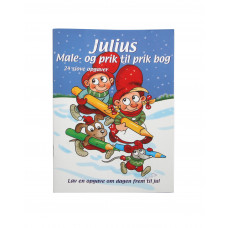 Kalendergave - Julius prik til prik male/opgavebog