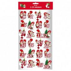 Kalendergave - 24 gavemærker - Røde nisser