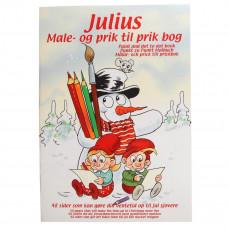Julius - Kalendergave - Male og prik til prik bog - Jul