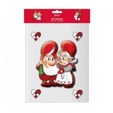 Jule Vinduesklistermærker - Nissemor og nissefar