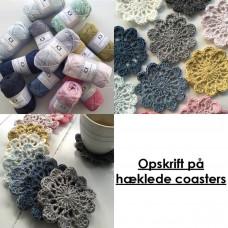 Karen Klarbæk - Hækle opskrift - Coasters
