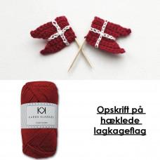 Karen Klarbæk - Hækle opskrift - Mini lagkage flag