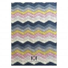Karen Klarbæk - Hækle opskrift - Zigzag tæppe 125 x 165 cm