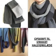 Karen Klarbæk - Strikke opskrift - Halstørklæde i falsk patent