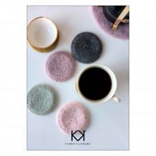 Karen Klarbæk - Hækle opskrift - Hæklet Filtet Coaster