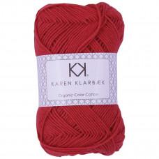 Karen Klarbæk - Økologisk bomuldsgarn 8/4 - Poppy red