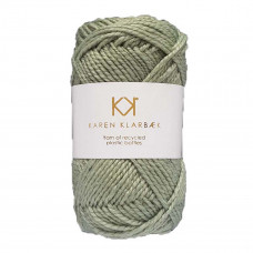 Karen Klarbæk - Recycled Bottle Yarn - Light Sage Green
