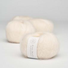 Krea Deluxe - Deluxe Silk Mohair - GOTS certificeret økologisk garn - nr. 02 Creme