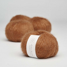 Krea Deluxe - Deluxe Silk Mohair - GOTS certificeret økologisk garn - nr. 52 Karamel