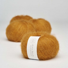 Krea Deluxe - Deluxe Silk Mohair - GOTS certificeret økologisk garn - nr. 09 Karrygul