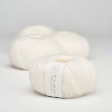 Krea Deluxe - Deluxe Silk Mohair - GOTS certificeret økologisk garn - nr. 01 Natur hvid