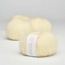 Krea Deluxe - Deluxe Silk Mohair - GOTS certificeret økologisk garn - nr. 03 Sart gul