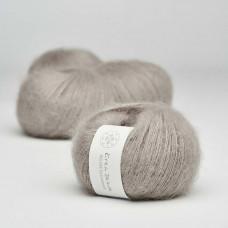 Krea Deluxe - Deluxe Silk Mohair - GOTS certificeret økologisk garn - nr. 19 Varm grå