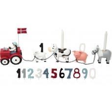 Kids by Friis - Fødselsdagstog m. 11 tal - Bondegård