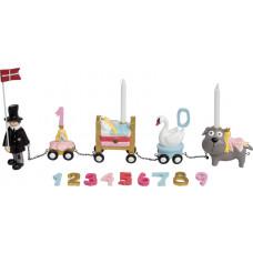 Kids by Friis - Fødselsdagstog m. 11 tal/ H. C. Andersen