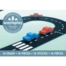 Waytoplay - Bilbane i gummi 16 dele - Expressway