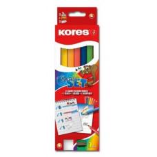 Kores - Farveblyanter - Jumbo 7 stk. (Fåes også med navn)