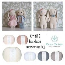 Krea Deluxe - Hækle kit - Kanin bamse og tøj