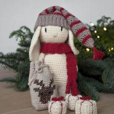 Krea Deluxe - Hækleopskrift - Jule tøj og tilbehør til kanin bamse