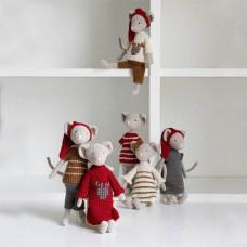 Krea Deluxe - Hækle kit til 6 mini julemus - Hr & Fru Mus