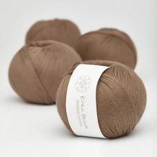Krea Deluxe - GOTS certificeret økologisk bomuldsgarn - Mellembrun nr. 30