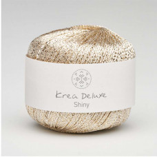 Krea Deluxe - Shiny glimmer garn ecofriendly - Hvidguld